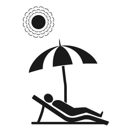 Beach chair icon - beach chaise longue