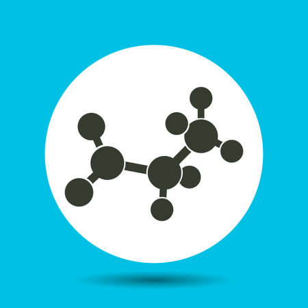 Molecular structure icon. Molecular structure vector isolated. Flat vector illustration in black.