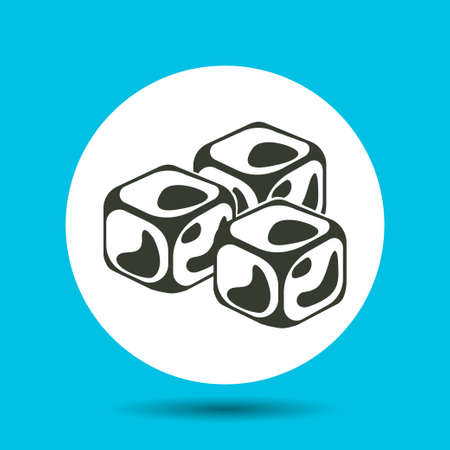 Ice cube icon. Ice cube vector isolated.