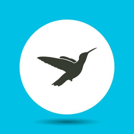 Bird icon. Bird vector isolated. Flat vector illustration in black. EPS