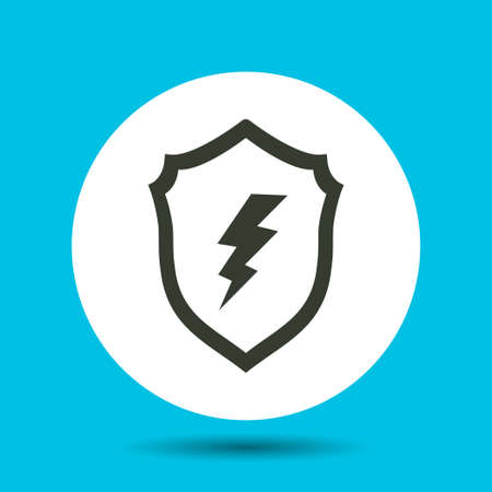 Shield icon. Shield vector isolated. Flat vector illustration in black.