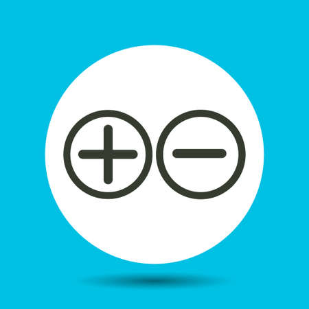 Plus and minus icon. Plus and minus vector isolated. Flat vector illustration in black.