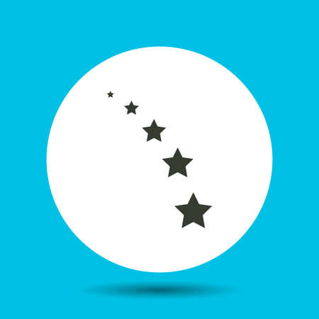 Star icon. Star vector isolated. Flat vector illustration in black.
