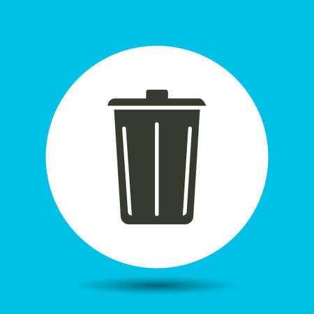 Trash can icon. Trash can vector isolated. Flat vector illustration in black. Ilustrace