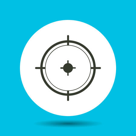Sight icon. Sight vector isolated. Flat vector illustration in black. Ilustrace