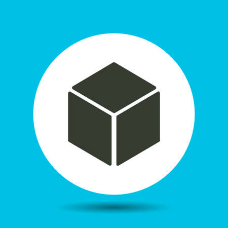 Black cube icon. Black cube vector isolated.