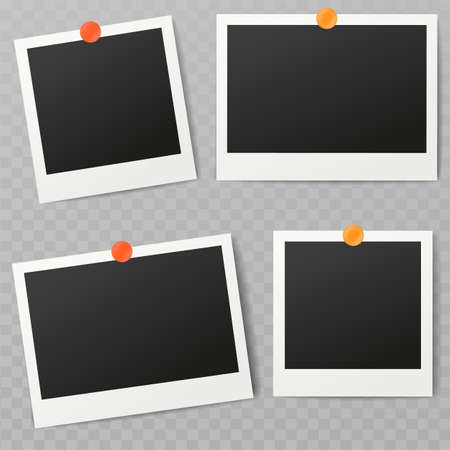 Blank photo frame, different shadow effects and empty space for your photograph and picture. Ilustrace