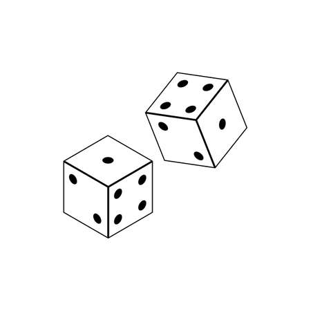 Dices vector icon, flat isolated vector illustration on a white background. Ilustrace
