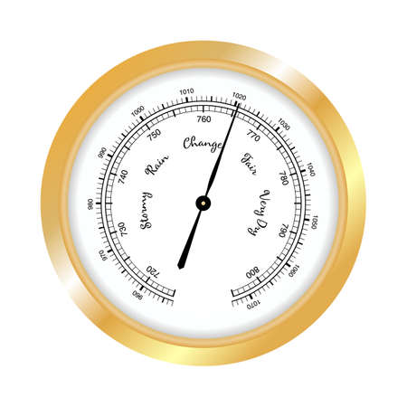 Barometer icon, vector isolated on white background.