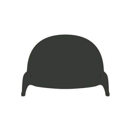 Military helmet icon. Flat vector illustration battle helmet on white background. Ilustração
