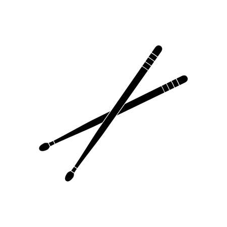 Drumsticks icon. Percussion musical instrument. Vector illustration.