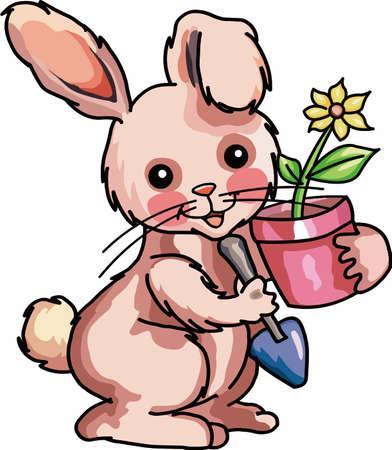 ウサギをこれらのデザインであなたの庭の経験をお楽しみください。  イラスト・ベクター素材