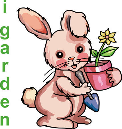 Enjoy having a rabbit in your garden experience with these designs . 向量圖像