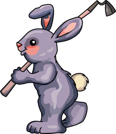 이러한 디자인으로 정원에서 토끼를 경험해보십시오. 일러스트