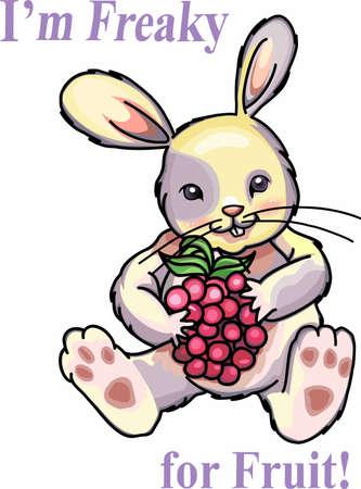 Geniet van de framboos met tuin konijn ontwerpen