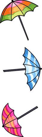 Enjoy the rainy season with these umbrella designs . Zdjęcie Seryjne - 44528064