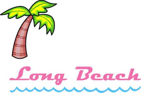 팜 비치에서 멋진 열대 휴가를 보내십시오. 스톡 콘텐츠 - 44528069