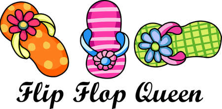 flipflops: Grab your flip flops, your chair and go relax on the beach!  Dont forget to take this with you, everyone will love it!