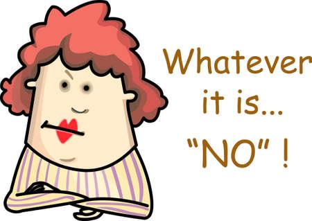 Wat het ook is, is het antwoord nee. Stock Illustratie