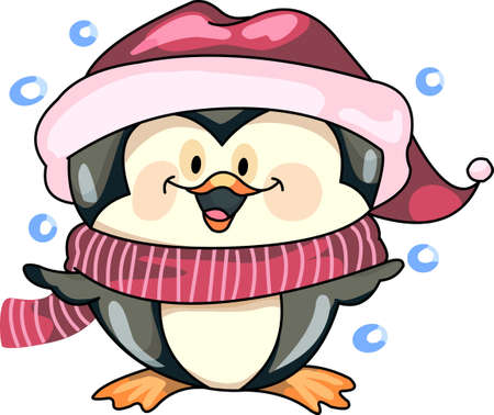 Send holiday cheers with this beautiful Christmas penguin. Banco de Imagens - 44833970