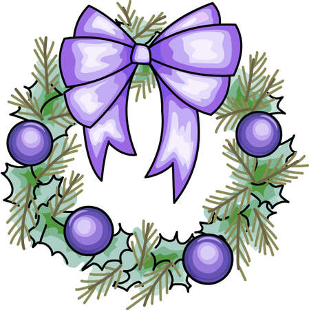 Send holiday cheers with this beautiful Christmas wreath. Banco de Imagens - 44833999