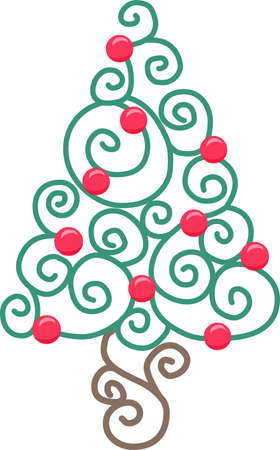 Send holiday cheers with this beautiful Christmas tree.