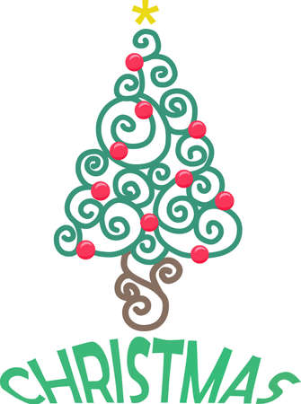 Send holiday cheers with this beautiful Christmas tree. Banco de Imagens - 44834023