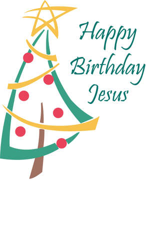 jesus birthday: Send holiday cheers with this beautiful Christmas tree.