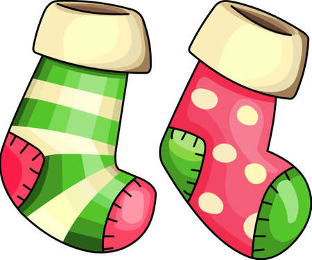 christmas stockings: Send holiday cheers with this beautiful Christmas stockings.  Illustration