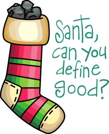 Senden Sie Feiertagsbeifall mit dieser schönen Weihnachtsstrümpfe. Standard-Bild - 44834078