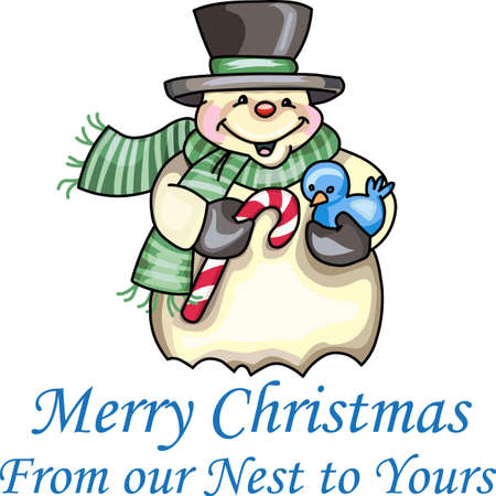 Send holiday cheers with this beautiful Christmas snowman. Banco de Imagens - 44834123