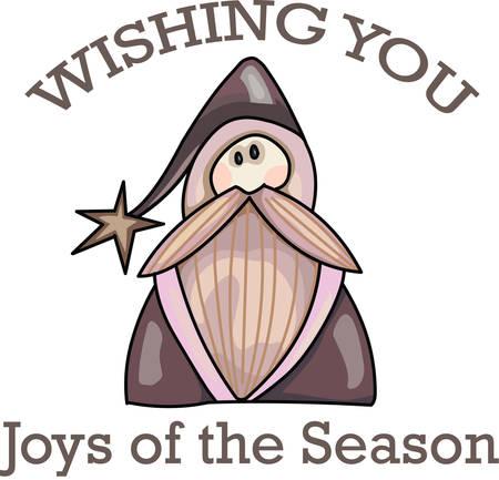 kringle: Send holiday cheers with this beautiful Christmas santa.