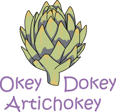 This artichoke is perfect to add for a gift to a gardener.  They will love it. Illustration