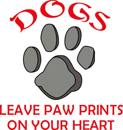 pooches: cute paw prints