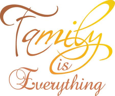 Añada este diseño a la bienvenida a su casa de la familia cada día. Les encantará este hermoso diseño. Ilustración de vector