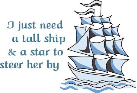 Het is altijd een leien dakje op de love boat! Neem deze op uw volgende cruise of als gift aan iemand die op een cruise. Zij zullen love it. Stock Illustratie