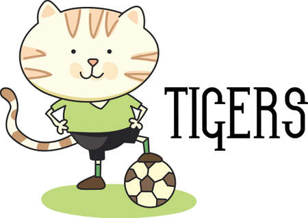 Soccer is a very active sport.  The goalie must stay focused on the track the ball may go.  This design is perfect for the special goalie of the team! 向量圖像