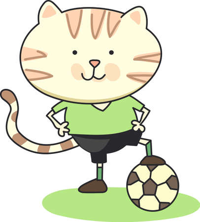 Soccer is a very active sport.  The goalie must stay focused on the track the ball may go.  This design is perfect for the special goalie of the team.