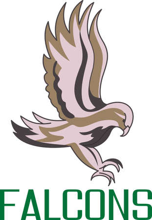 Time to cheer for the team with this Falcon mascot design.
