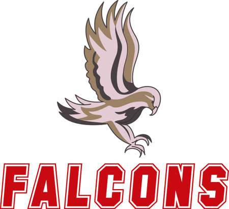 Time to cheer for the team with this Falcon mascot design.  Çizim
