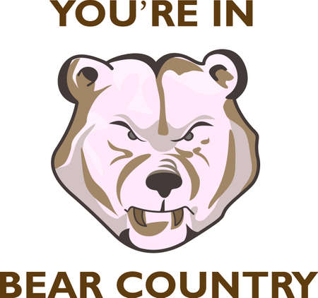 bruin: Time to cheer for the team with this Bears mascot design.