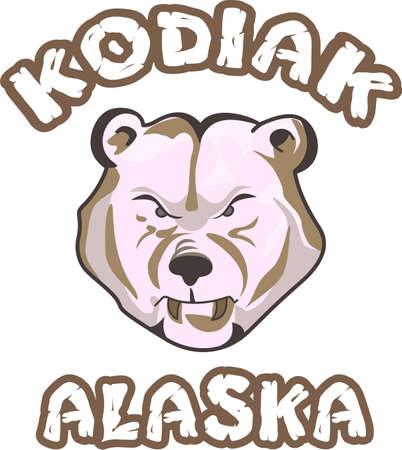 kodiak: Es hora de animar al equipo con este dise�o de la mascota de los osos.