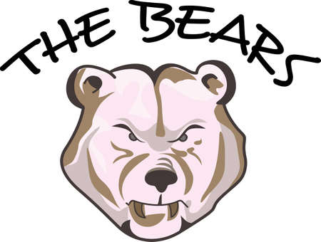 Time to cheer for the team with this Bears mascot design.