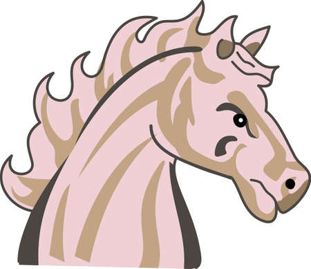 Time to cheer for the team with this Mustang mascot design  Çizim