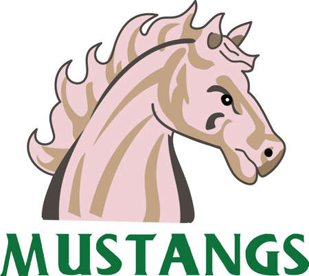 Time to cheer for the team with this Mustang mascot design.