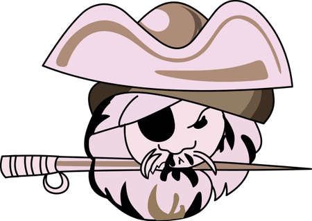 scoundrel: Time to cheer for the team with this Pirate mascot design.
