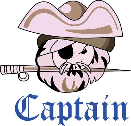 scoundrel: � ora di tifare per la squadra con questo disegno mascotte Pirata.