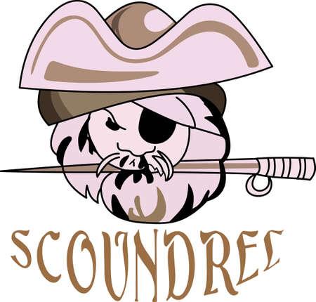 Tijd om te juichen voor het team met dit Pirate mascotte van het ontwerp. Stockfoto - 44923723