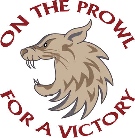 mountain lions: Time to cheer for the team with this Wildcat mascot design.