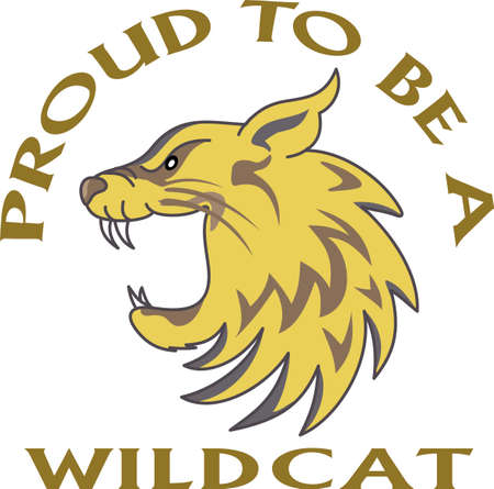 wildcat: Time to cheer for the team with this Wildcat mascot design.